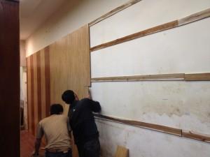 thi công ốp tường gỗ, ốp gỗ, ốp tường