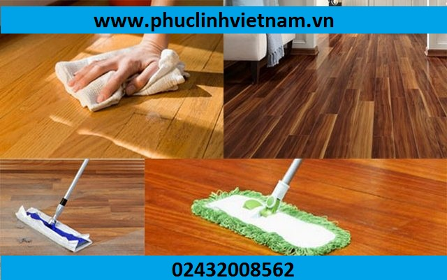 vệ sinh sàn gỗ
