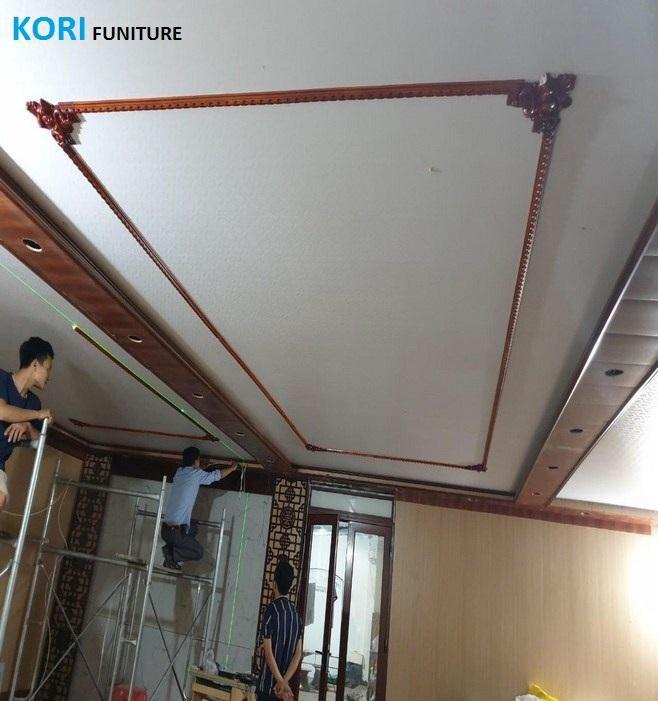 mẫu ốp tường nhựa pvc vân gỗ, cách thi công ốp tường gỗ, hướng dẫn thi công ốp tường giả gỗ,